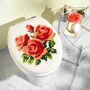 Vervaco 1255-13501 Roses Toilet Lid Cover